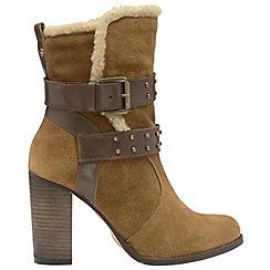 Ravel - Tan 'Vernon' ladies buckle strap ankle boots