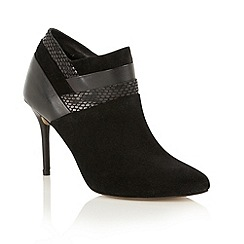 Ravel - Black leather mix 'Oakland' ankle boots