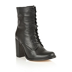 Ravel - Black leather 'Randall' lace up boots