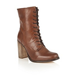 Ravel - Chestnut leather 'Randall' lace up boots