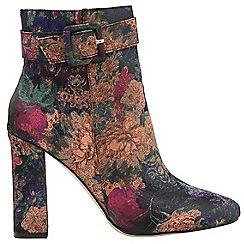 Ravel - Floral 'Brantley' ladies block heeled ankle boots