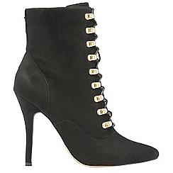 Ravel - Black 'Akron' ladies stiletto heeled ankle boots