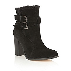Ravel - Black suede 'Silverton' ankle boots