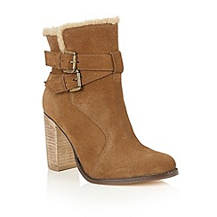 Ravel - Chestnut suede 'Silverton' ankle boots