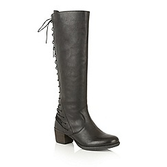 Ravel - Black san marco leather 'Upton' knee high boots