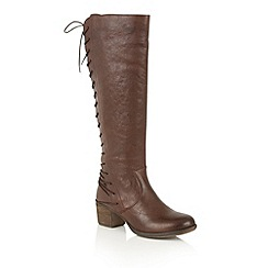 Ravel - Choco san marco leather 'Upton' knee high boots