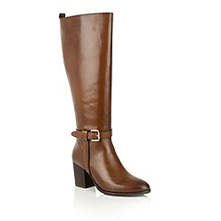 Ravel - Rags cognac leather 'Waller' knee high boots