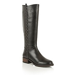 Ravel - Black leather 'Webb' knee high boots