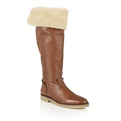Ravel - Tan leather 'Briscoe' knee high boots