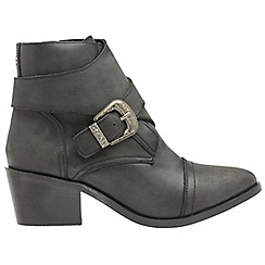 Ravel - Black 'Grant' ladies buckle detail ankle boots