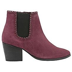 Ravel - Burgundy 'Lanett' ladies block heeled ankle boots