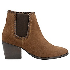 Ravel - Tan 'Lanett' ladies block heeled ankle boots