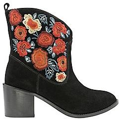Ravel - Black 'Maxwell' ladies block heel ankle boots