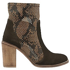 Ravel - Brown 'Northport' ladies block heeled ankle boots