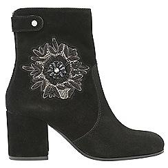 Ravel - Black 'Penrose' ladies high heeled ankle boots