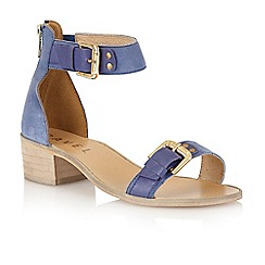 Ravel - Blue 'Gerbera' block heel sandals