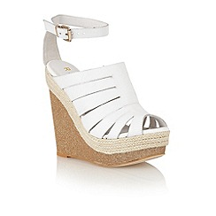 Ravel - White 'Lily' wedge sandals
