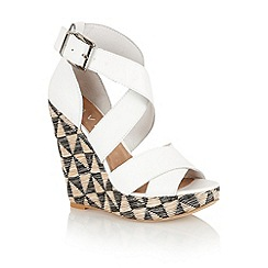 Ravel - White 'Kennedia' strappy wedge sandals