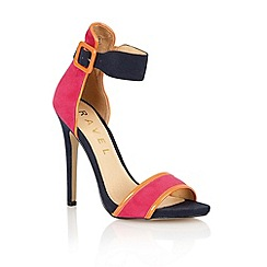 Ravel - Fuchsia/navy suede 'Pansy' stilleto shoes