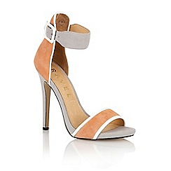 Ravel - Peach/grey suede 'Pansy' stilleto shoes