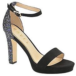 Ravel - Black 'Selma' ladies peep toe glitter sandals