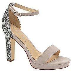 Ravel - Grey 'Selma' ladies peep toe glitter sandals
