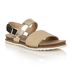 Ravel - Beige/gold/black 'Colorado' ladies sandals