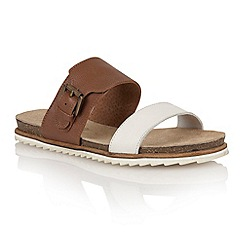 Ravel - White/tan 'Nebraska' ladies sandals