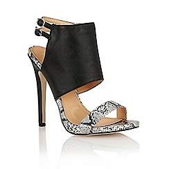 Ravel - Black/snake 'Mississippi' ladies heeled sandals