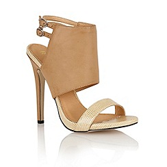 Ravel - Nude/snake 'Mississippi' ladies heeled sandals