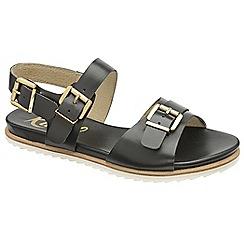 Ravel - Black 'Moab' ladies open toe ankle strap sandals