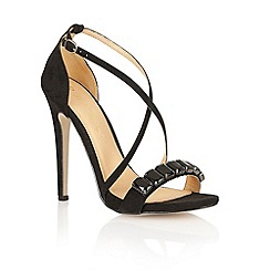 Ravel - Black 'Houston' ladies heeled sandals