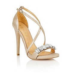 Ravel - Rose gold 'Houston' ladies heeled sandals