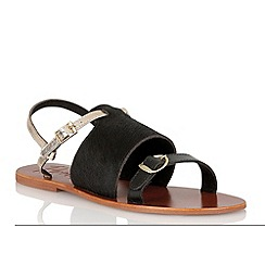 Ravel - Black/gold 'Buckeye' ladies sandals
