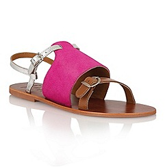 Ravel - Fuchsia/tan/silver 'Buckeye' ladies sanda