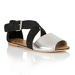 Ravel - Black/silver 'Dallas' ladies sandals