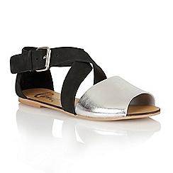 Ravel - Black/silver 'Dallas' ladies sandals
