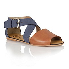 Ravel - Navy/tan 'Dallas' ladies sandals