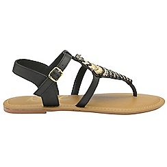 Ravel - Black 'Richman' ladies ankle strap sandals