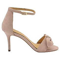 Ravel - Nude 'Grayston' ladies suede ankle strap sandals