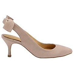 Ravel - Nude 'Kerr' ladies heeled slip on shoes