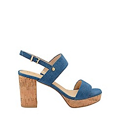 Ravel - Blue denim 'Parker' ankle strap platform sandals
