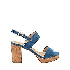 Ravel - Blue denim 'Parker' ankle strap platform sandals