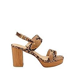 Ravel - Snake 'Parker' ankle strap platform sandals