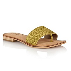 Ravel - Green crackle 'Cusseta' ladies sandals