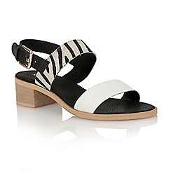 Ravel - Black/white zebra 'Columbus' ladies sandals