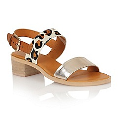Ravel - Brown/leopard 'Columbus' ladies sandals