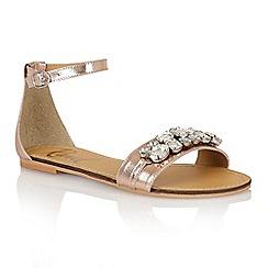 Ravel - Rose gold 'Tulsa' ladies sandals