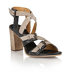 Ravel - Navy/off white 'Bunnell' ladies heeled sandals