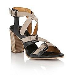 Ravel - Navy/off white 'Bunnell' ladies heeled sandals